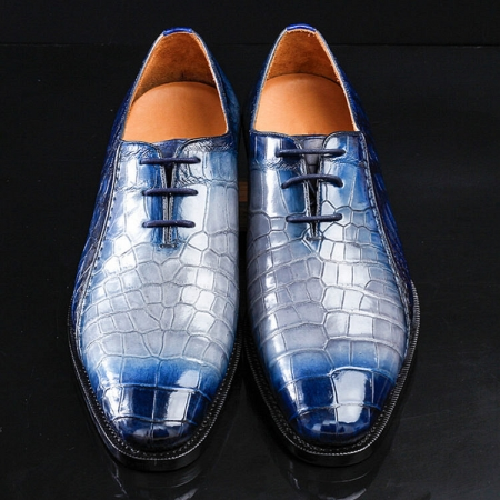 Timeless Alligator Shoes Mens Full Alligator Dress Shoes-Upper