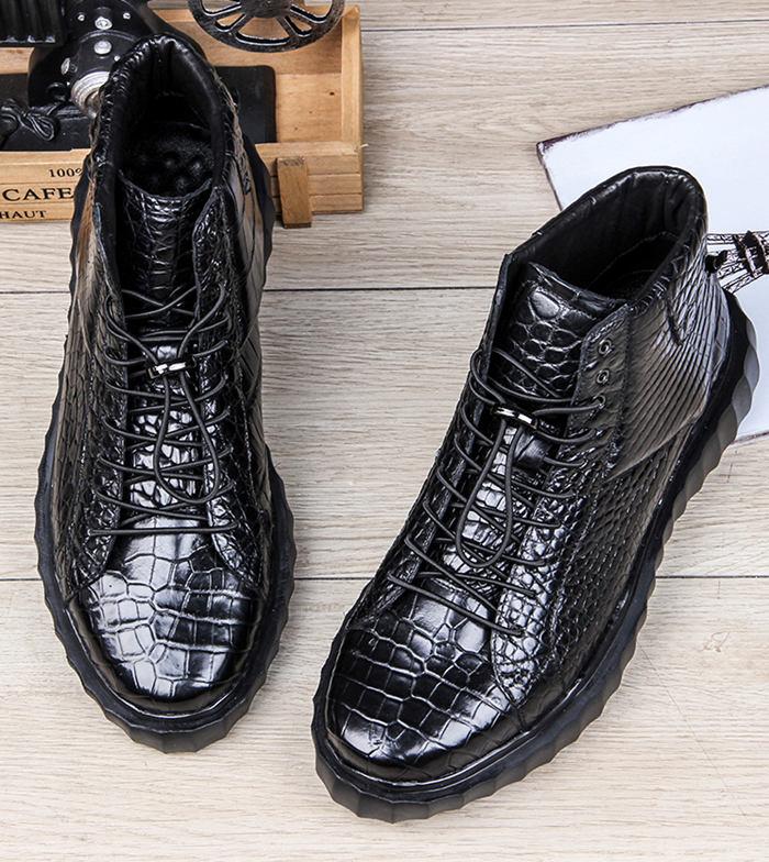 Alligator Skin Hip Hop Shoes form BRUCEGAO