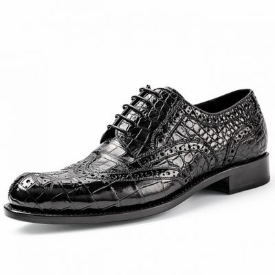 Alligator Skin Oxford Business Dress Shoes for Men
