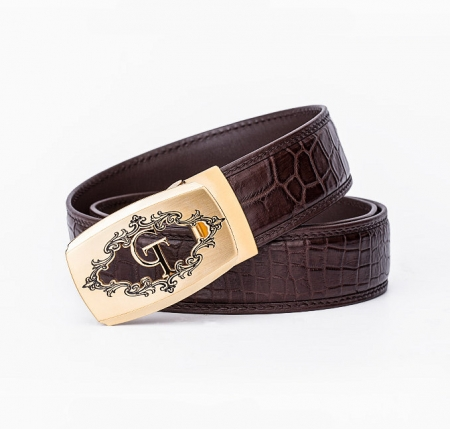 Designer Alligator Skin Dress Belt-1