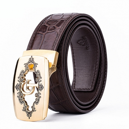 Designer Alligator Skin Dress Belt
