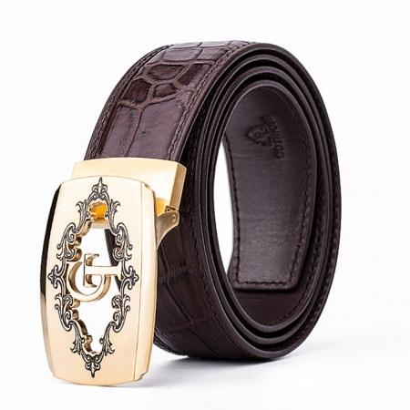 Designer Alligator Skin Dress Belt