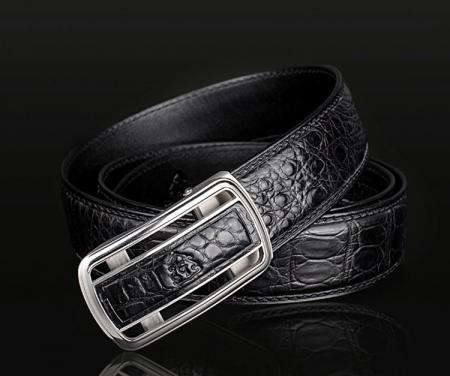 Luxury Style Crocodile Dress Belt for Men-1