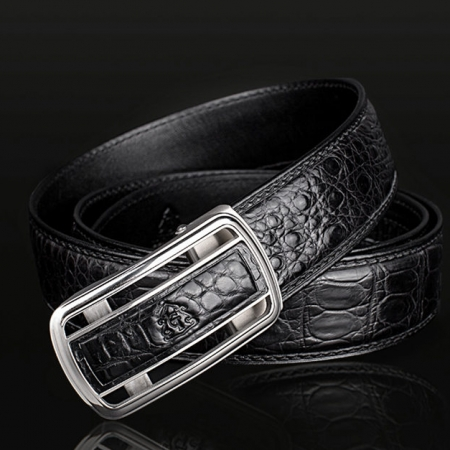 Luxury Style Crocodile Dress Belt for Men-1