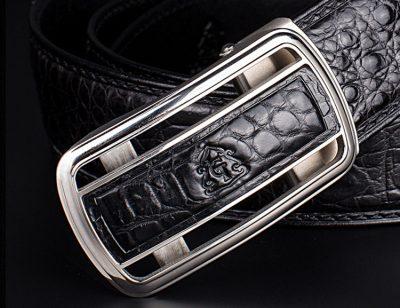 Luxury Style Crocodile Dress Belt for Men-Buckle