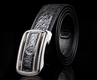 Luxury Style Crocodile Dress Belt for Men-Exhibition