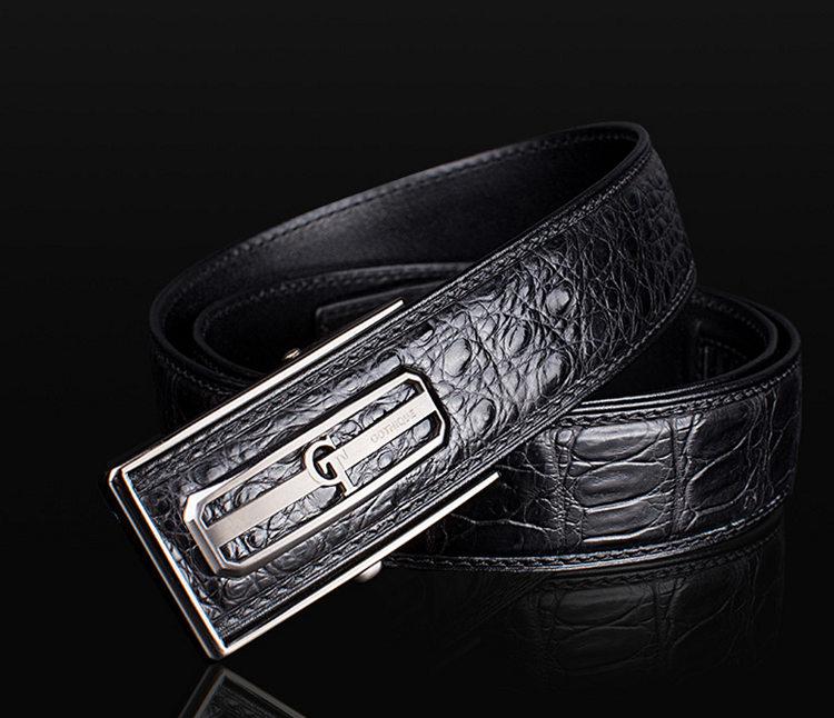 Luxury Style Crocodile Dress Belt for Men-GT-1