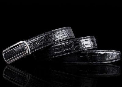 Luxury Style Crocodile Dress Belt for Men-Lay