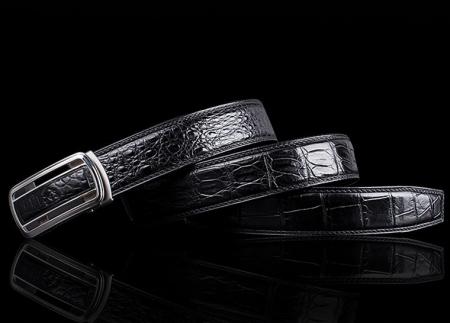 Luxury Style Crocodile Dress Belt for Men-Lay