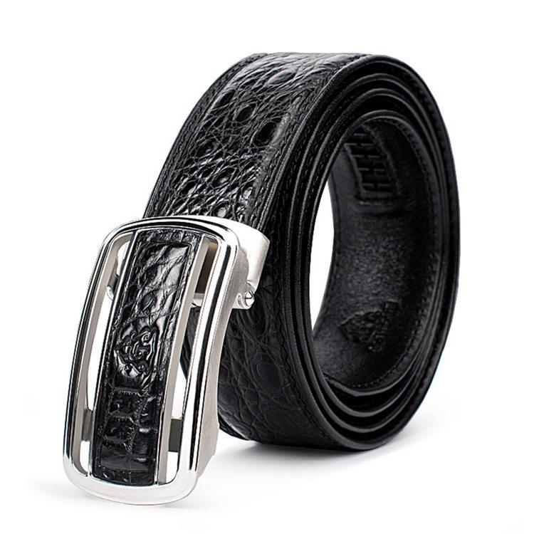Luxury Style Crocodile Dress Belt for Men