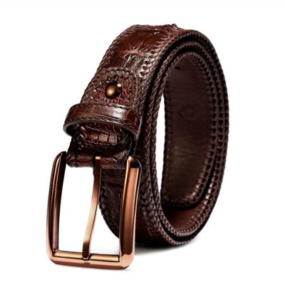 Stylish Genuine Alligator Belt Handmade Alligator Belt for Men
