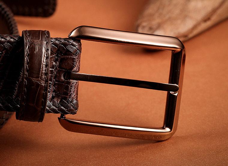 Stylish Genuine Alligator Belt Handmade Alligator Belt for Men-Buckle