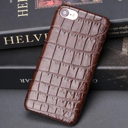 Alligator iPhone 8 Case-Brown
