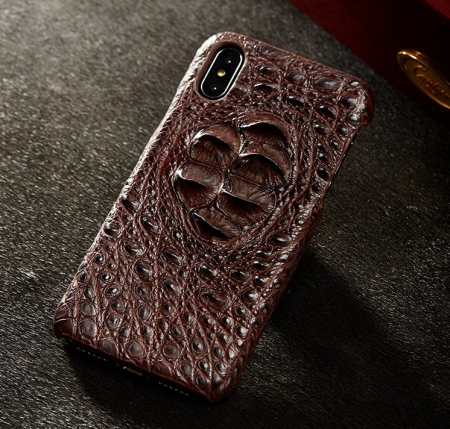 Brown #1 iPhone X Case-Exhibition