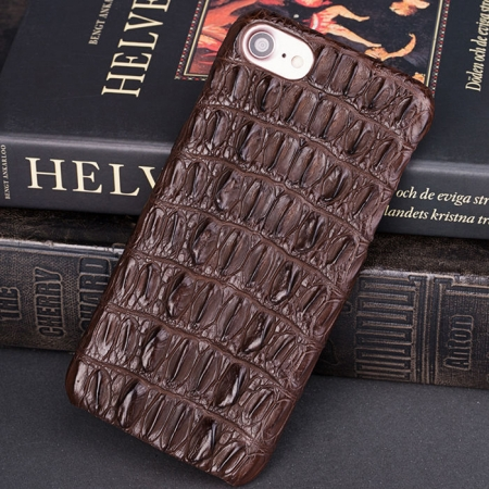 Crocodile and Alligator iPhone 8 Case-Brown
