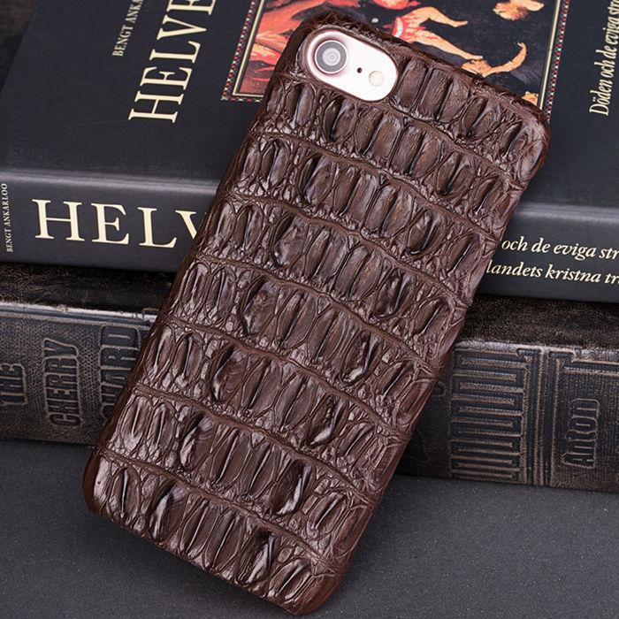 Crocodile and Alligator iPhone 8 Case-Brown
