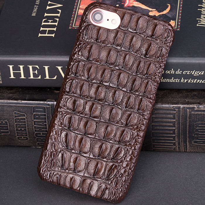 Crocodile iPhone 8 Case-Brown-1