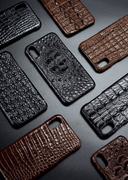 Genuine Crocodile and Alligator Skin iPhone X Case-Exhibition
