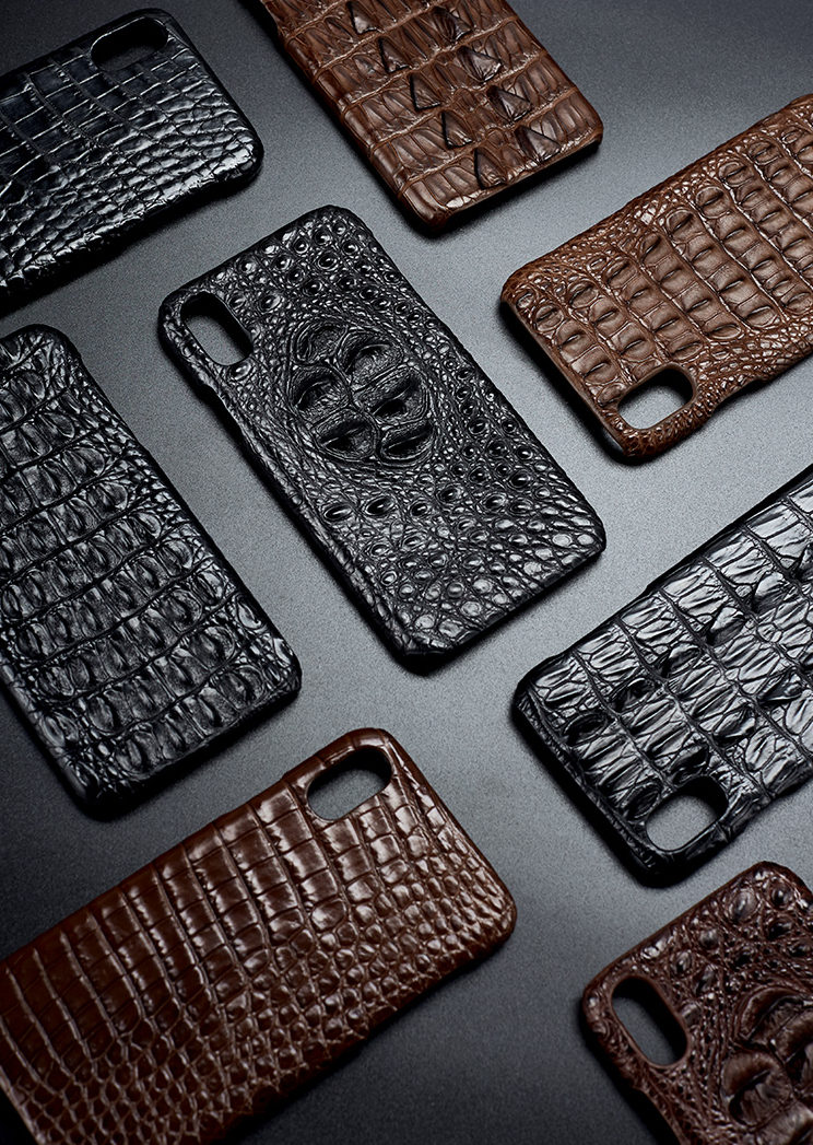 finest selection a7e64 7a6e5 Crocodile Skin iPhone X Case and Alligator Skin iPhone X Case