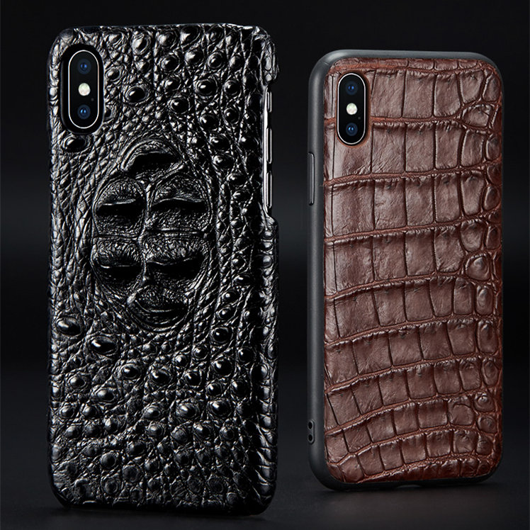 Genuine Crocodile and Alligator Skin iPhone X Cases