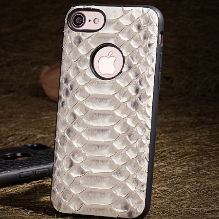 Snakeskin iPhone 8 Case-White