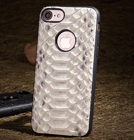 Snakeskin iPhone 8 Case-White