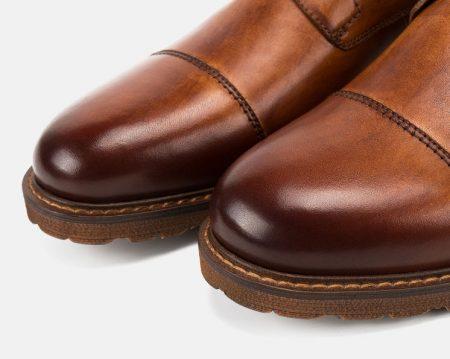 Men's Leather Oxford Dress Shoes Formal Lace up Shoes-Cap toe