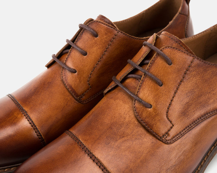 Mens Leather Oxford Dress Shoes Formal Lace Up Shoes