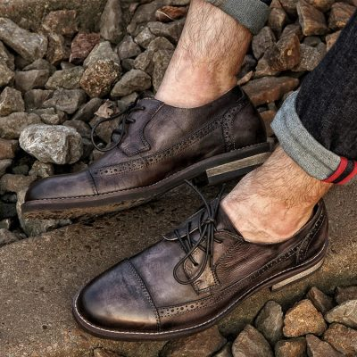 Vintage Leather Oxford Lace up Shoes