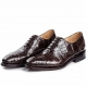 Alligator Skin Cap-Toe Oxford Formal Business Dress Shoes-Brown