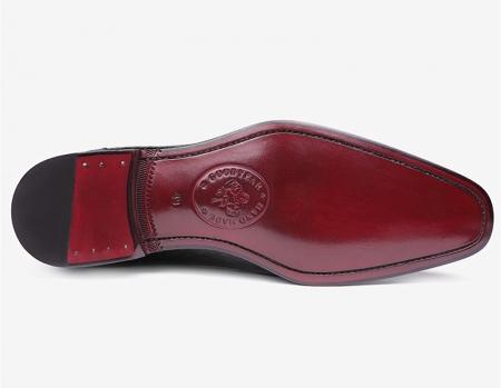 Mens Premium Alligator Oxford Lace-up Dress Shoes-Sole