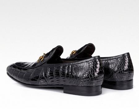 Premium Alligator Bit Slip on Loafers Slip-on Shoes for Men-Heel
