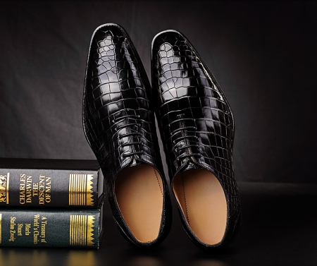 Premium Alligator Oxford Lace-up Dress Shoes for Men