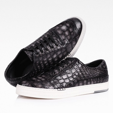 Alligator Sneaker Casual Lace-up Shoes-1