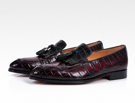 Alligator Tassel Loafer Slip-On Shoes for Men