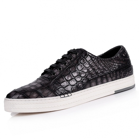 Fashion Alligator Sneaker Casual Lace-up Shoes for Men