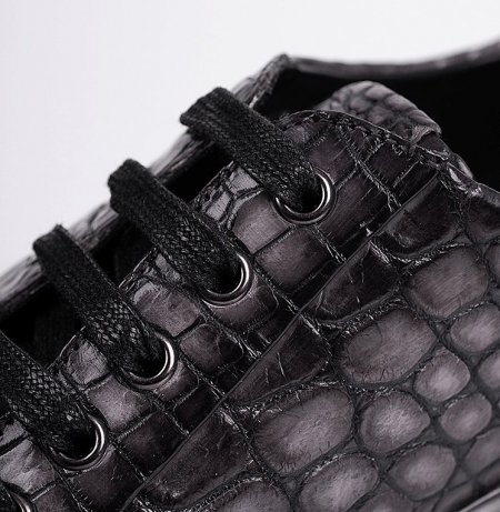Fashion Alligator Sneaker Casual Lace-up Shoes for Men-Lace-up