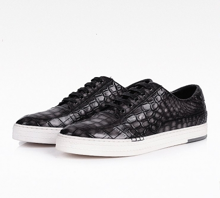Fashion Alligator Sneaker Casual Lace-up Shoes for Men-Side