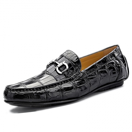 Alligator Driving Style Moccasin Shoes Penny Loafers