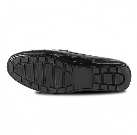 Alligator Driving Style Moccasin Shoes Penny Loafers-Sole