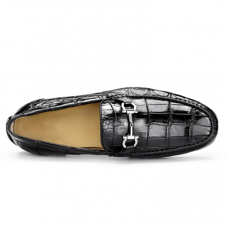 Alligator Driving Style Moccasin Shoes Penny Loafers-Upper