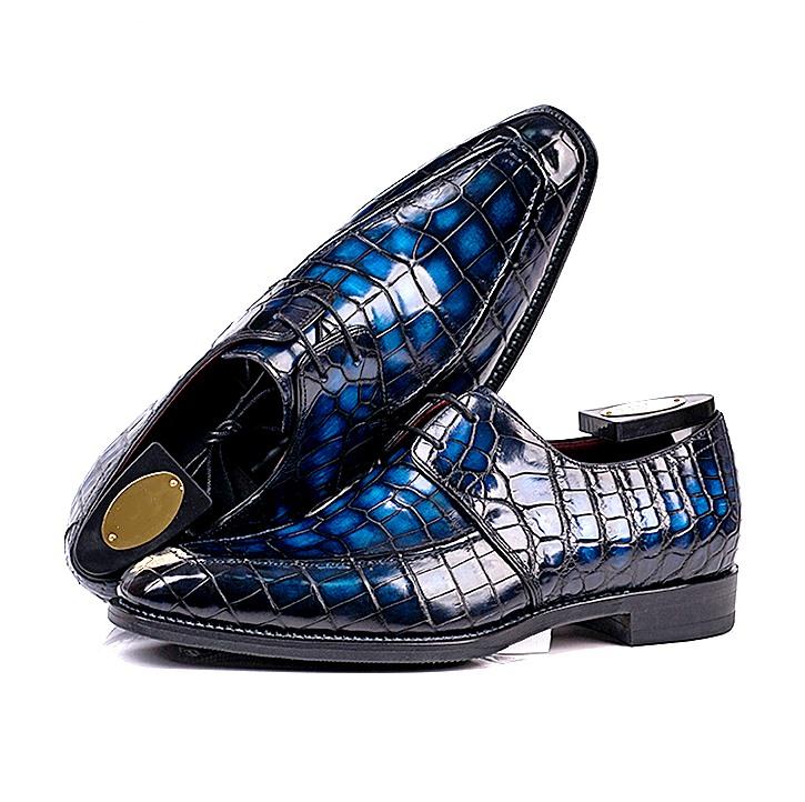Handmade alligator leather shoes for men